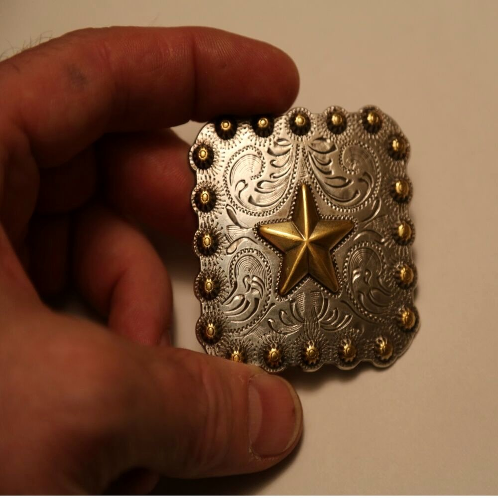 2 Inch Star Lovely Gold Star Concho Square 2 25 Inch