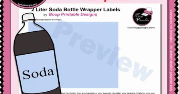 2 Liter Bottle Label Template Unique 2 Liter soda Bottle Wrapper Label Templates by Boop