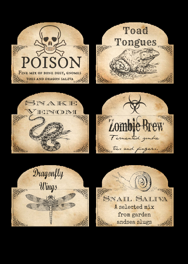 2 Liter soda Bottle Label Template Best Of Free Halloween Printable Labels