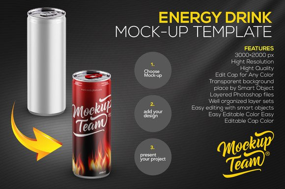 2 Liter soda Bottle Label Template Lovely Energy Drink Psd Mock Up Designtube Creative Design