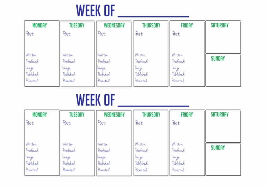 2 Week Calendar Printable Awesome Kate the Almost Great Giveaway
