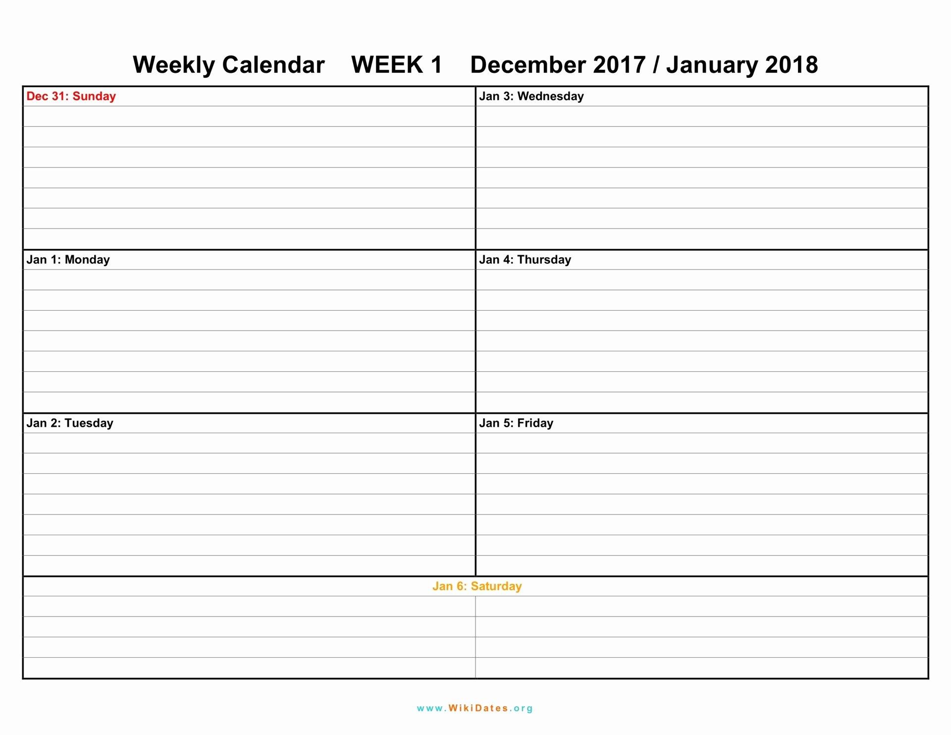 2 Week Calendar Printable Beautiful Weekly Calendar Download Weekly Calendar 2017 and 2018