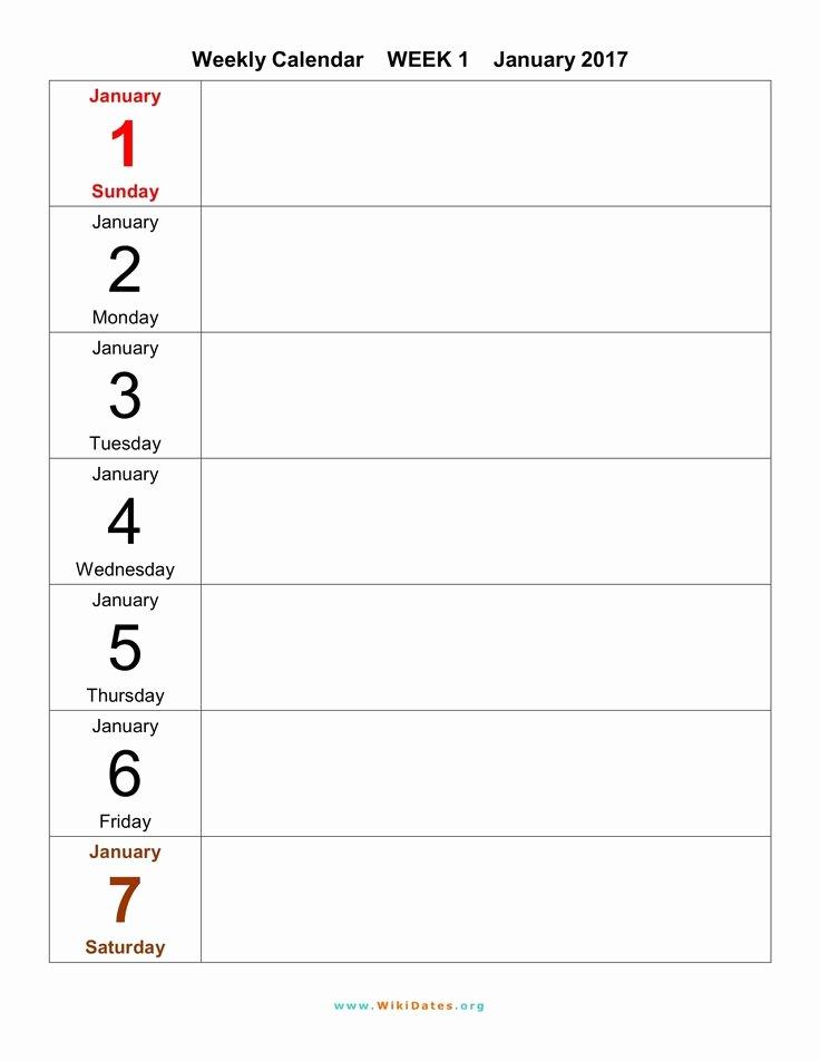 2 Week Calendar Printable Elegant 1000 Ideas About Weekly Calendar Template On Pinterest