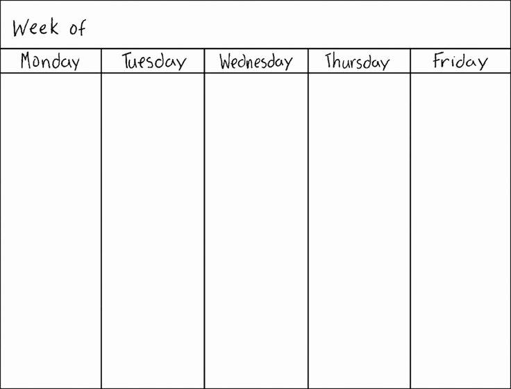 2 Week Calendar Printable Lovely Best 25 Weekly Calendar Template Ideas On Pinterest