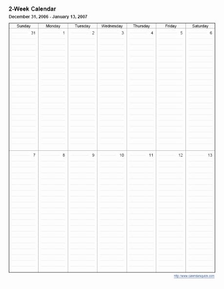 2 Week Calendar Printable Lovely Printable 2 Week Calendar Calendarsquick