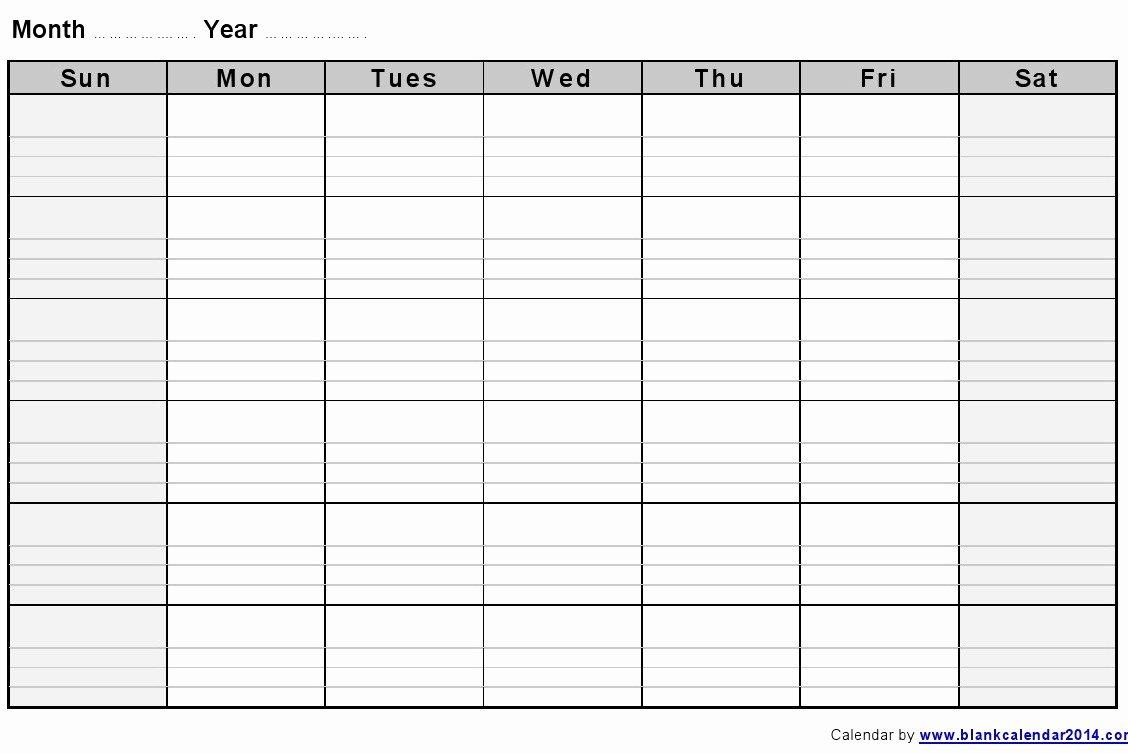 2 Week Calendar Printable Unique Blank Week Calendar