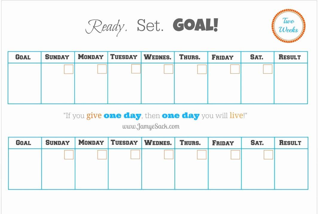 2 Week Calendar Printable Unique [free Printable] Two Week Goal Calendar – Jamye Sack