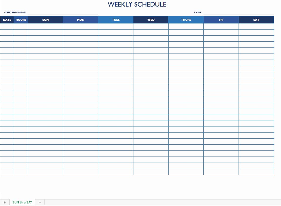 2 Week Schedule Template Best Of Free Work Schedule Templates for Word and Excel