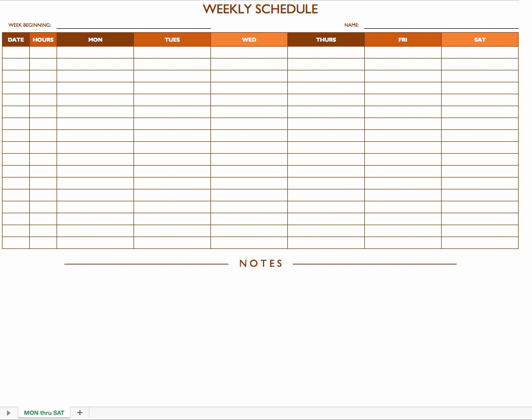 2 Week Schedule Template Elegant Free Work Schedule Templates for Word and Excel
