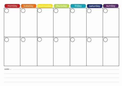 2 Week Schedule Template Elegant More Free Printable Menu Plans