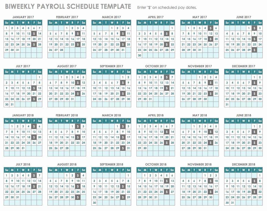 2019 Biweekly Payroll Calendar Excel Awesome 15 Free Payroll Templates