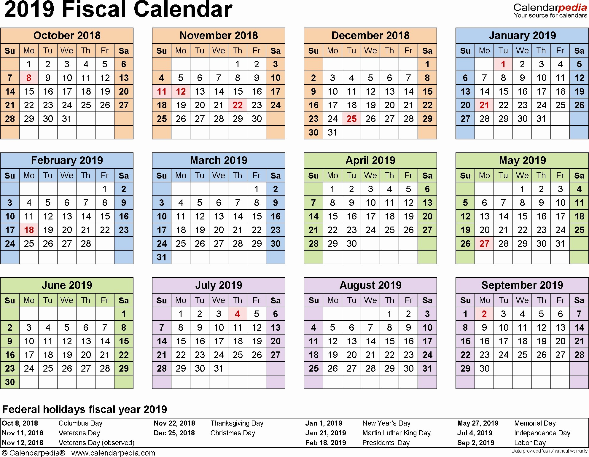 2019 Biweekly Payroll Calendar Excel Awesome 2019 Pay Period Calendar Government