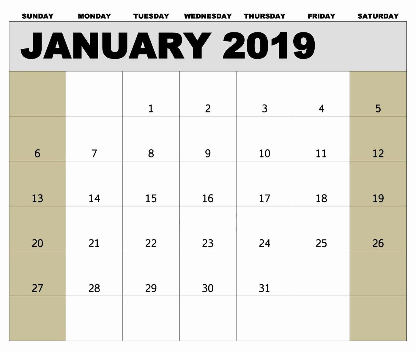 2019 Biweekly Payroll Calendar Excel Elegant 2019 Payroll Calendar Printable