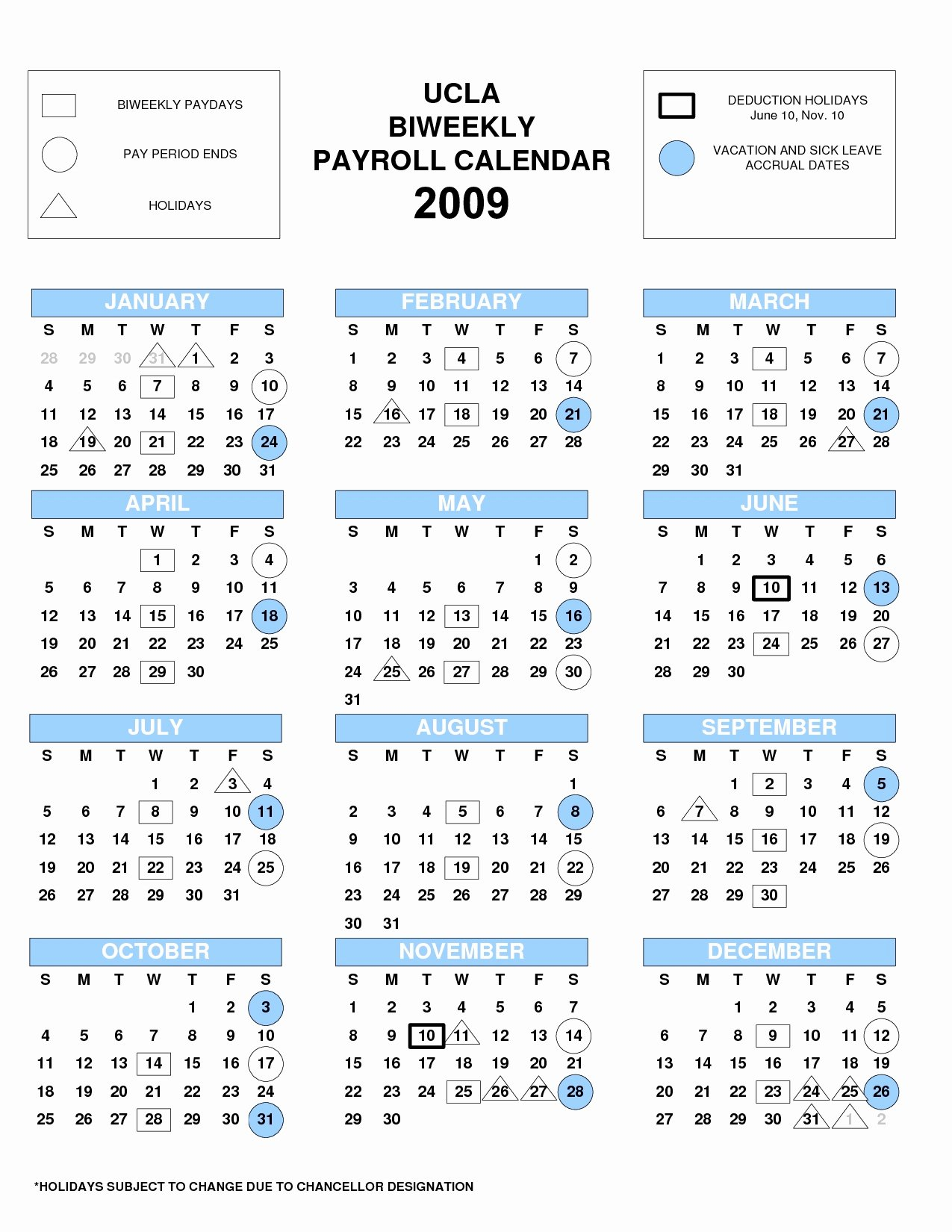 2019 Biweekly Payroll Calendar Excel Fresh Ucla Calendar 2019