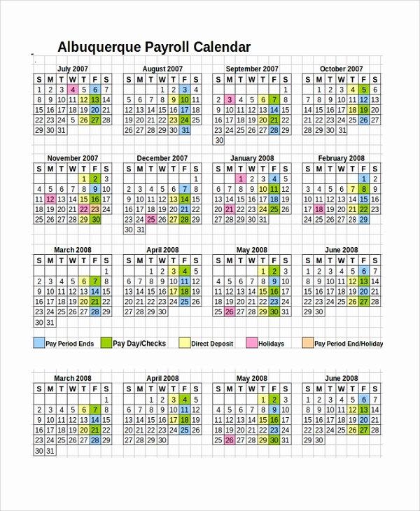 2019 Biweekly Payroll Calendar Excel Lovely 10 Payroll Calendar Templates