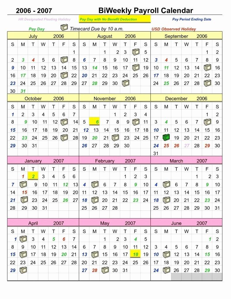 2019 Biweekly Payroll Calendar Template Beautiful Biweekly Payroll Calendar Template 2019