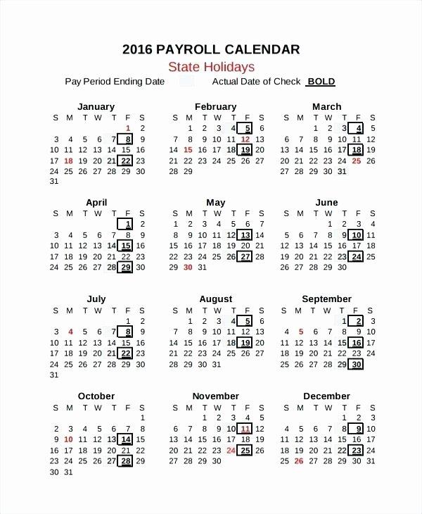 2019 Biweekly Payroll Calendar Template Elegant 15 Bi Weekly Payroll
