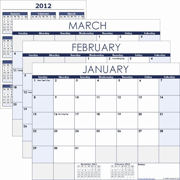 2019 Biweekly Payroll Calendar Template Excel Elegant Excel Calendar Template for 2019 and Beyond