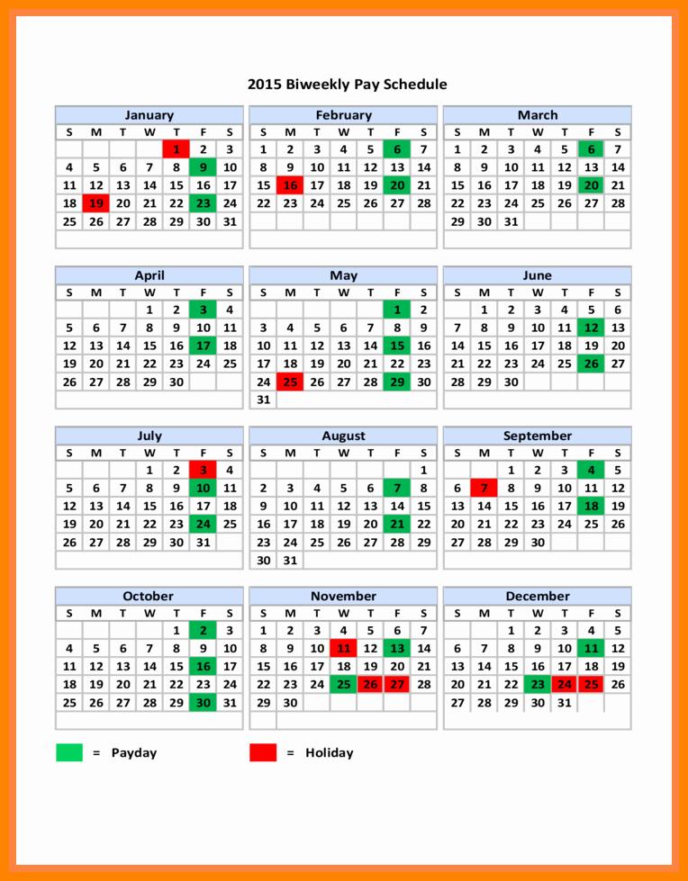 2019 Biweekly Payroll Calendar Template Excel New 6 2018 Biweekly Payroll Calendar Template
