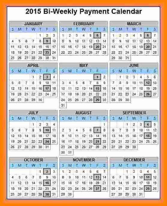 2019 Biweekly Payroll Calendar Template Inspirational 7 Payroll Calendar 2018 Template