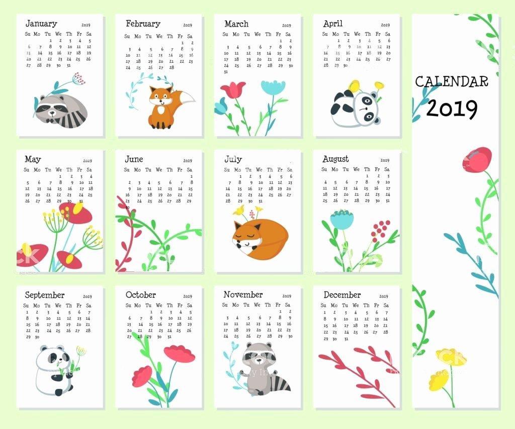2019 Cute Calendar Printable Beautiful Cute 2019 Printable Calendar