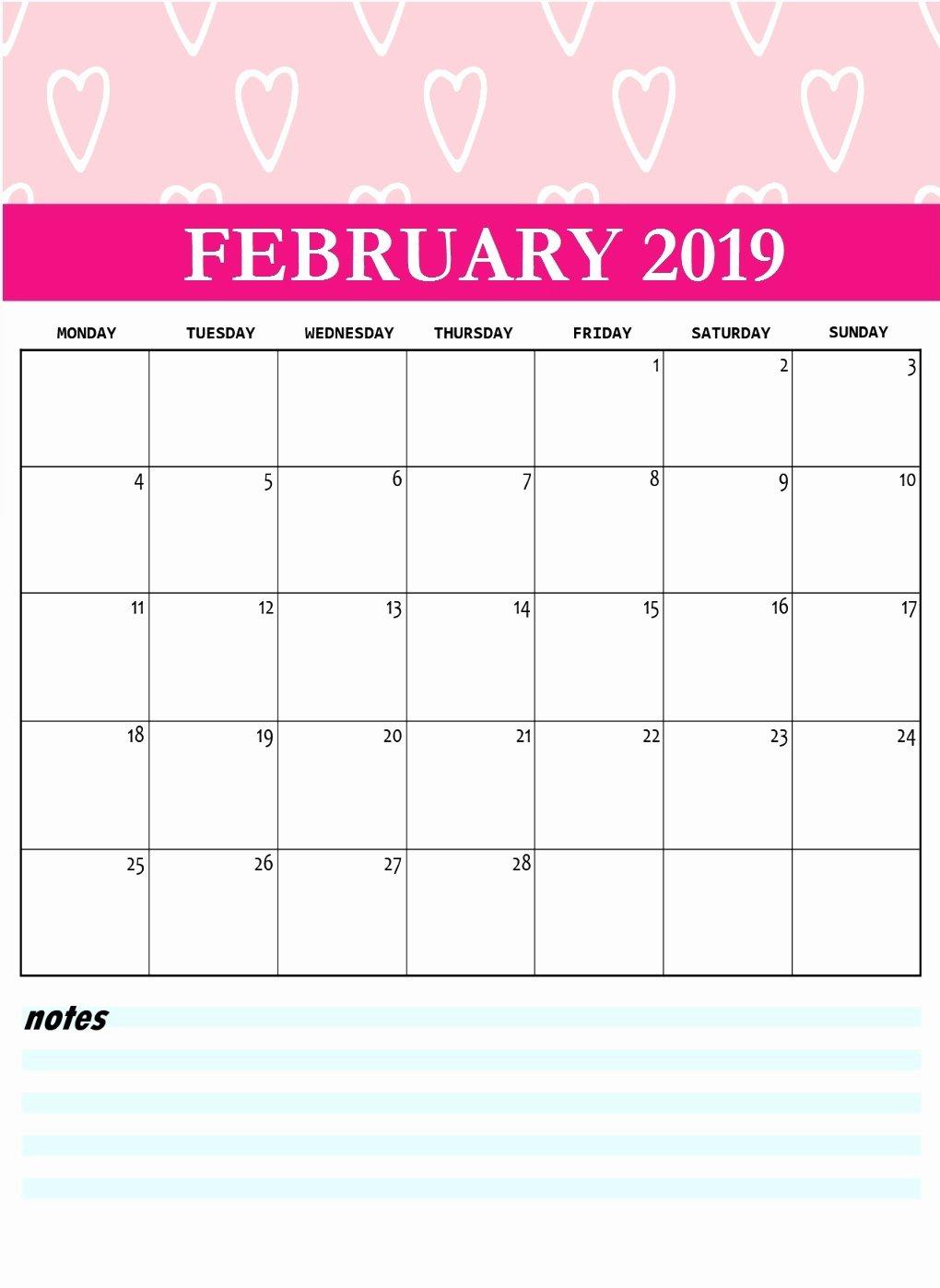 2019 Cute Calendar Printable Elegant Cute 2019 Printable Calendar