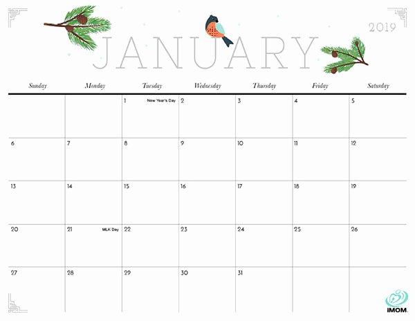 2019 Cute Calendar Printable Fresh Cute and Crafty 2019 Calendar Imom