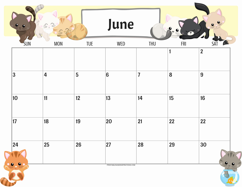 2019 Cute Calendar Printable Inspirational Cute Cats 2019 Calendar Printable Planner Pdf with Free