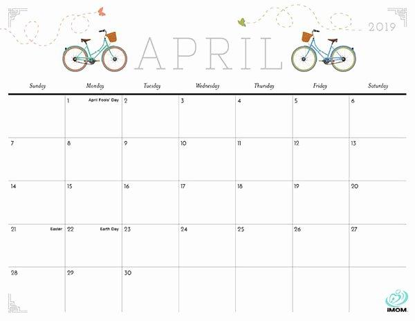 2019 Cute Calendar Printable Lovely Cute and Crafty 2019 Calendar Imom