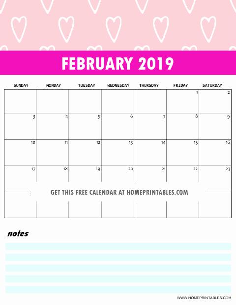 2019 Cute Calendar Printable Luxury Free 2019 Monthly Calendar Printable Cute and Colorful