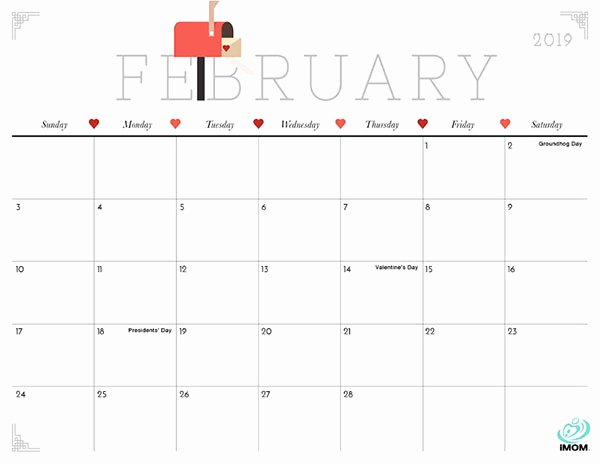 2019 Cute Calendar Printable New Cute and Crafty 2019 Calendar Imom