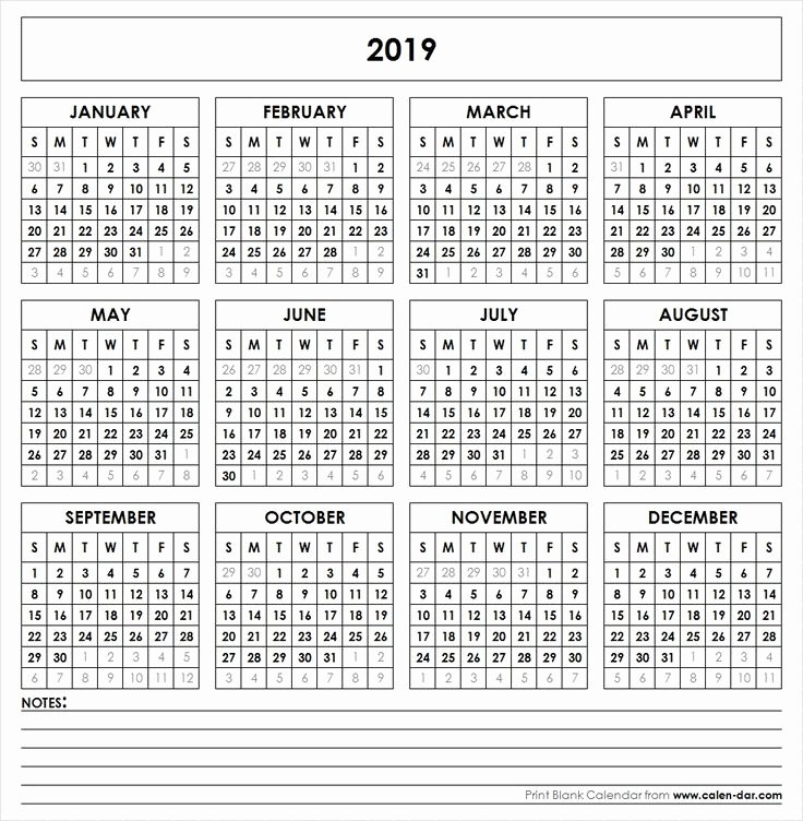 2019 Payroll Calendar Template Inspirational 2019 Printable Calendar Yearly Calendar