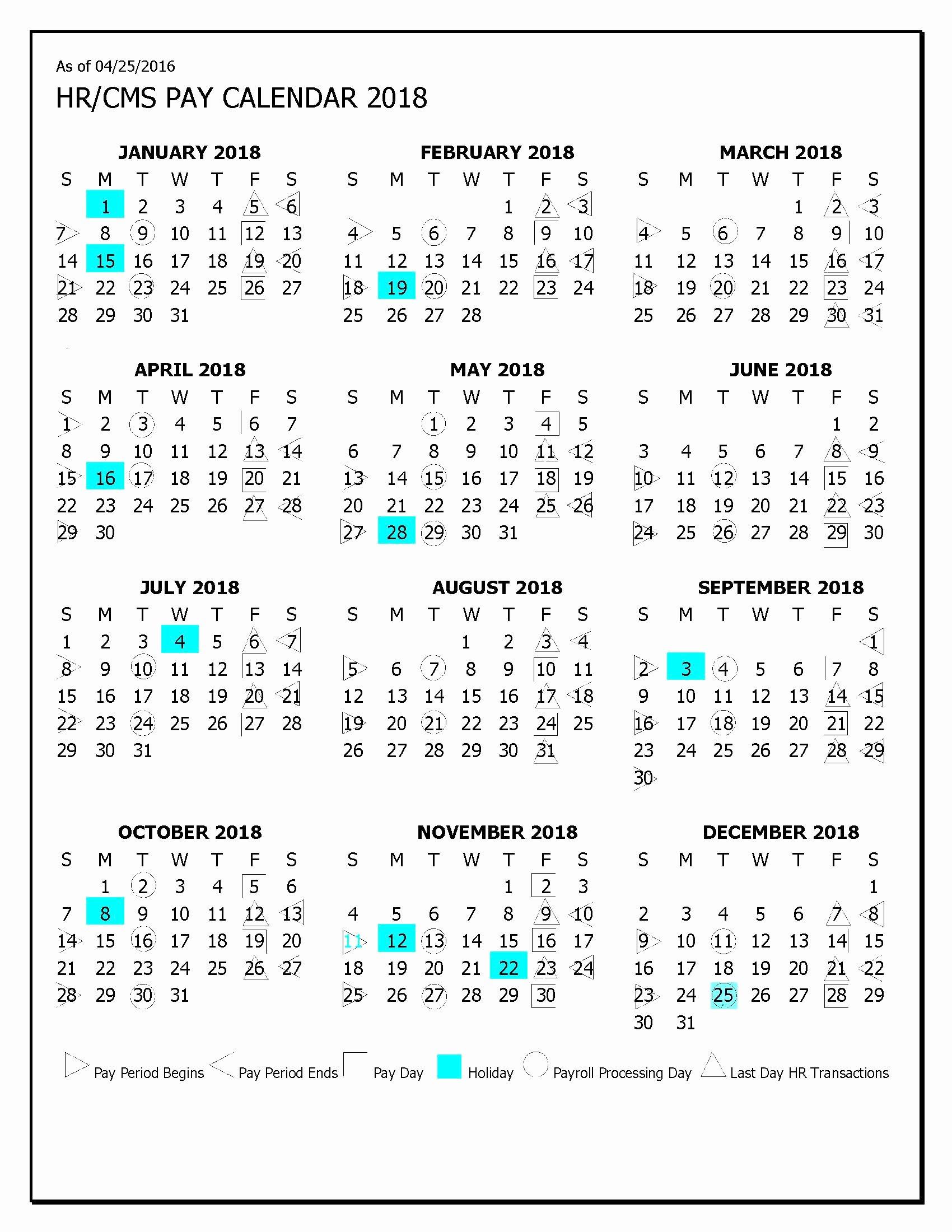2019 Payroll Calendar Template Lovely Payroll Calendar 2019 Hhs