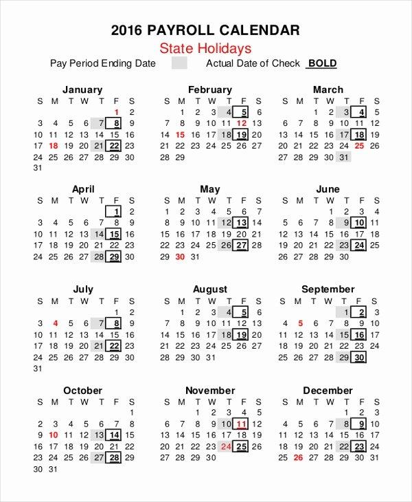 2019 Payroll Calendar Template Luxury Payroll Calendar Template 10 Free Excel Pdf Document