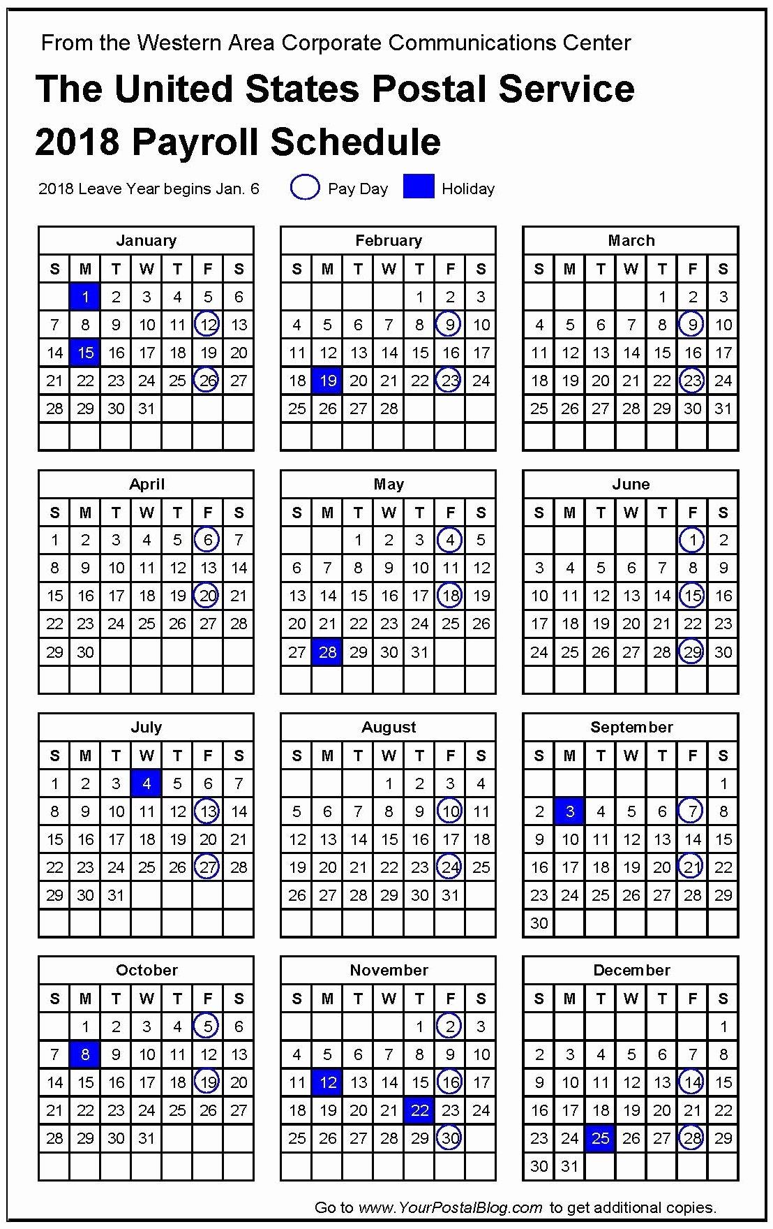2019 Payroll Calendar Template Unique Usps Pay Period Calendar 2019 – Template Calendar Design