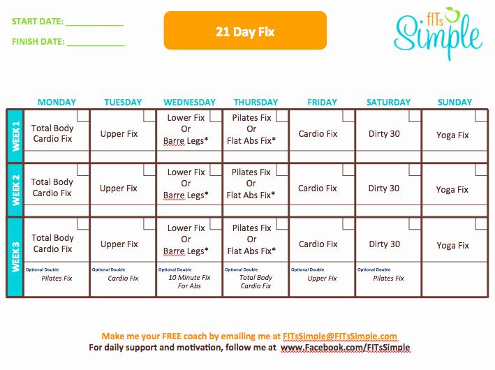 21 Day Fix Calendar Template Beautiful 21 Day Fix Fitnessgal86