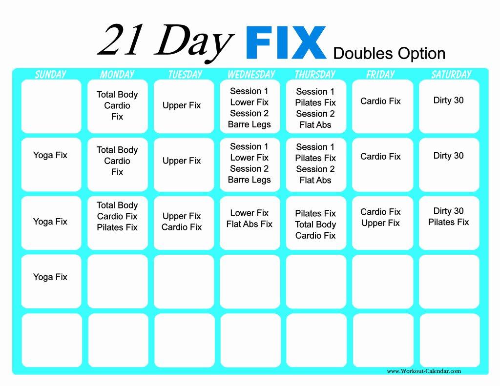 21 Day Fix Calendar Template Beautiful 21 Day Fix Workout Calendar
