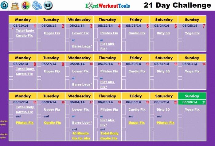 21 Day Fix Calendar Template Best Of 21 Day Fix Calendar Printable