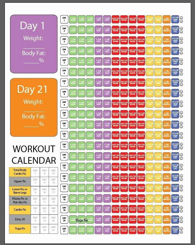 21 Day Fix Calendar Template Fresh 1200 1499 21 Day Fix Check Sheet