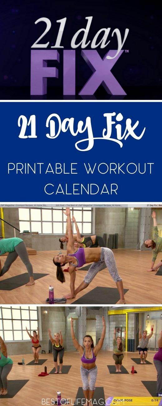 21 Day Fix Calendar Template Fresh 21 Day Fix Printable Workout Calendar the Best Of Life