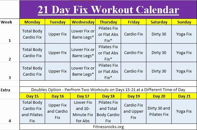 21 Day Fix Calendar Template Lovely Autumn S 21 Day Fix Training Schedule Free Downloadable