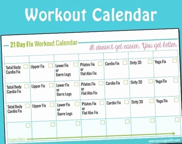 21 Day Fix Calendar Template Lovely Beachbody Printables Archives