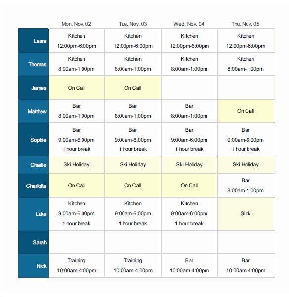 24 7 Shift Schedule Template Best Of Employee Shift Schedule Template