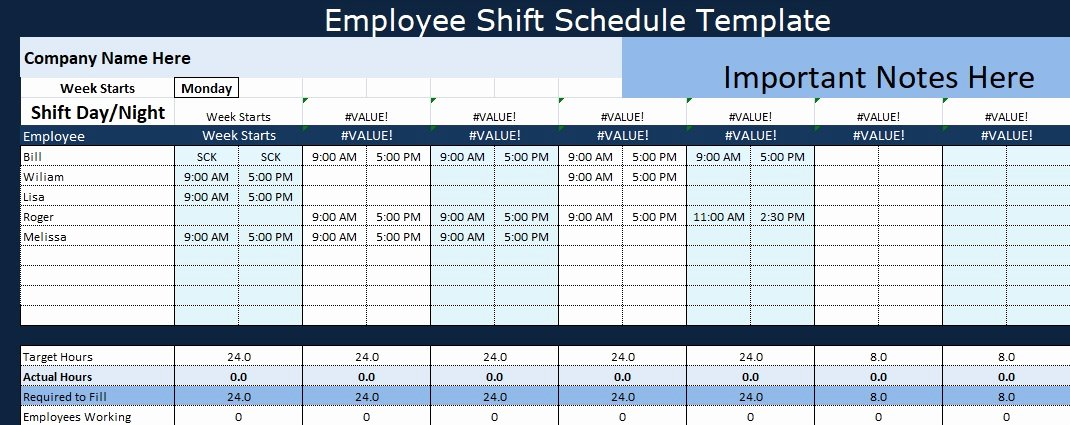 24 7 Shift Schedule Template Inspirational Employee Shift Schedule Template