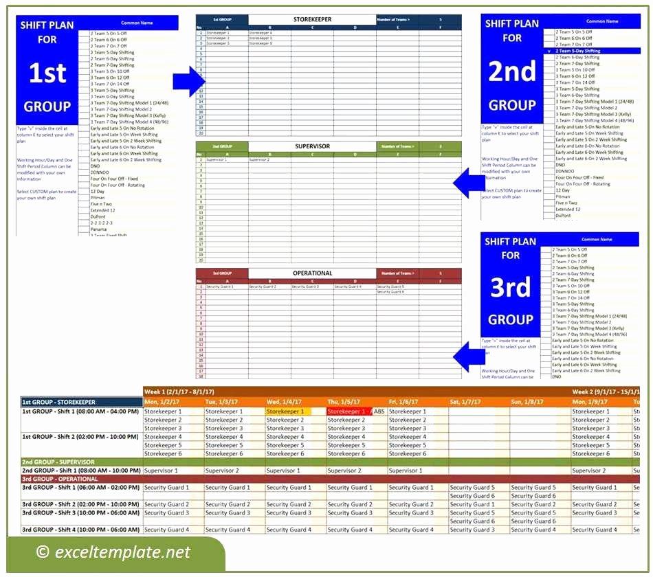 24 7 Shift Schedule Template Lovely 4 Crew 24 7 Shift Schedule Idea