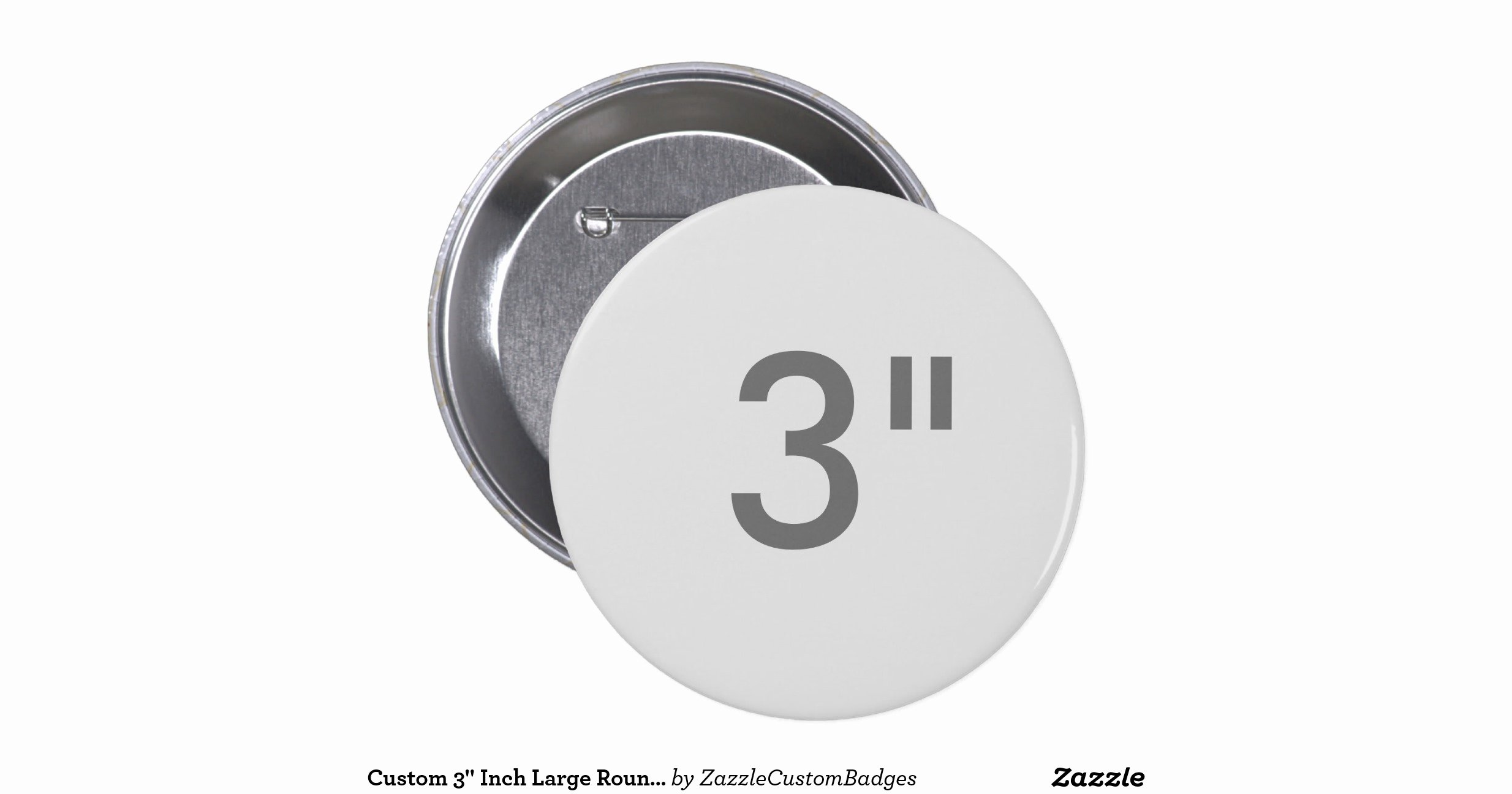 3 Inch Circle Template Printable Elegant Custom 3 Inch Large Round Badge Blank Template 3 Inch