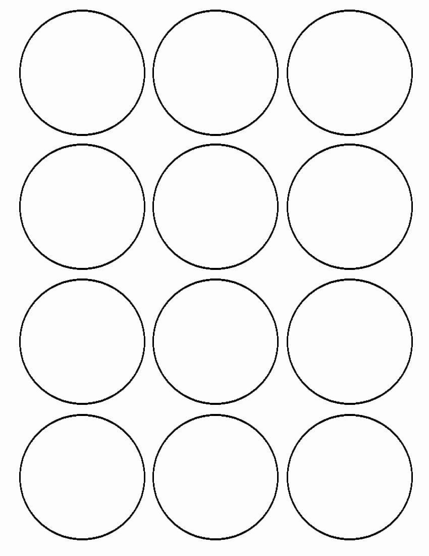 3 Inch Circle Template Printable Inspirational Flour Confections