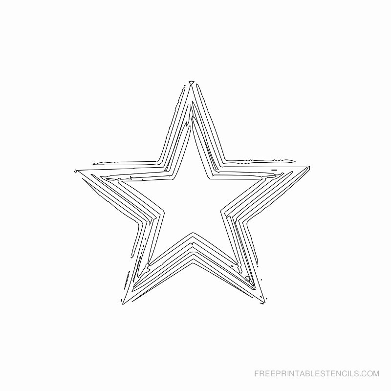 3 Inch Star Template Awesome Star Stencil Printable Designs