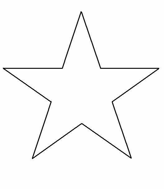 3 Inch Star Template Beautiful Free Print Shape Star Template