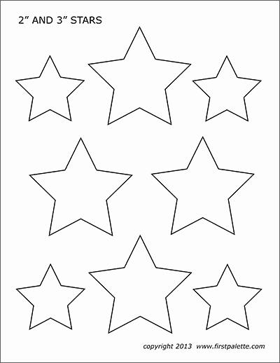3 Inch Star Template Elegant Stars
